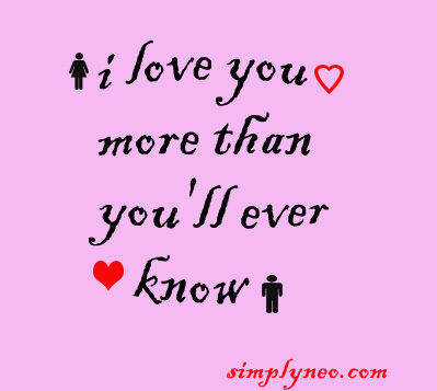 I love you more than you'll ever know. Short, romantic and cute love quotes for partner to make his day and show how deeply you care, i love you more than funny quotes, anything quotes, everything quotes, sayings, funny metaphors, anything in the world quotes