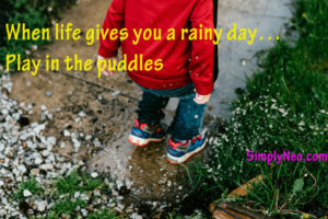 When life gives you a rainy day... Play in puddles
