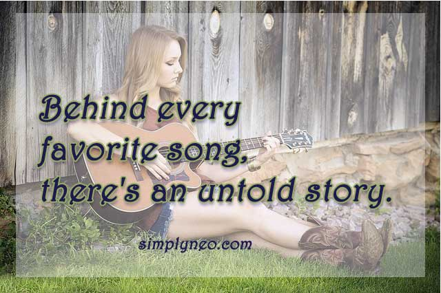 behind every favorite song, there's an untold story