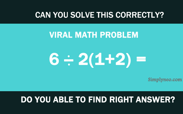 Can You Solve This Correctly