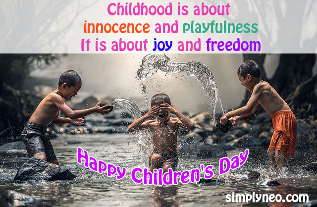 Happy Children's Day Quotes, Wishes, Messages, greetings & Pictures