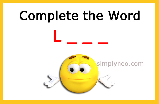 Complete the word. Starts with L _ _ _