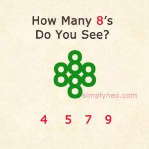 How Many 8's Do You See?