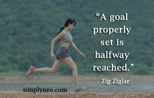 A goal properly set is halfway reached. - Zig Ziglar Quotes
