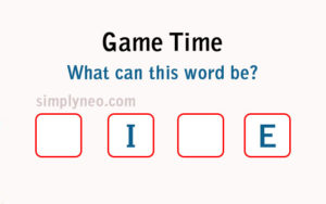 Game Time What can this word be?