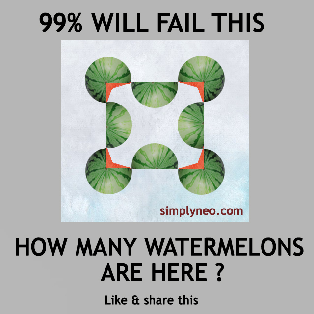 How many watermelons are there ? quiz Ans